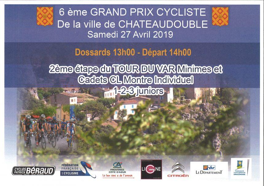 6ème Grand Prix Cycliste de Châteaudouble