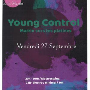 Concert Young Control le 27/09/2019 au Cercle St Martin