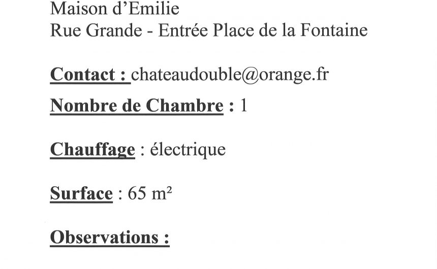 location logement F3